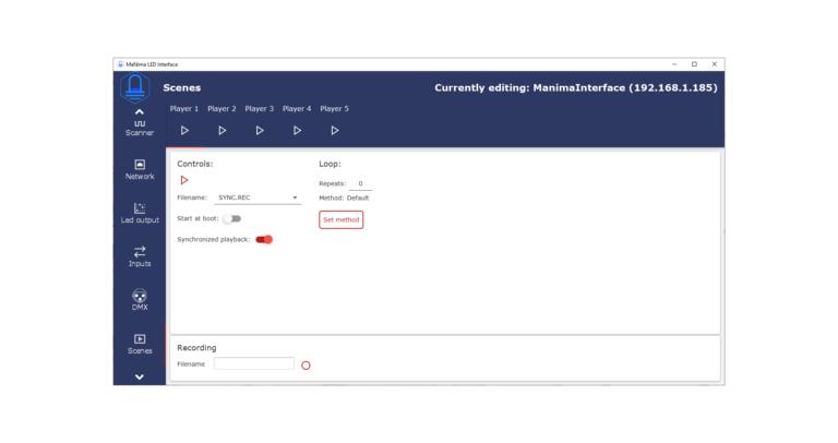 MaNima Technologies-Configurator-LED-Pixel-Controller-Interface